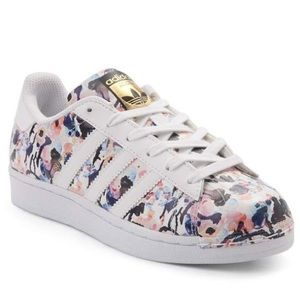 EXCLUSIVE Floral Adidas Sneakers